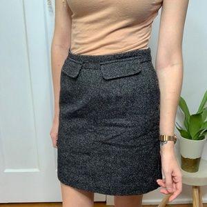 See by Chloe Wool Blend Gray Heathered Mini Skirt